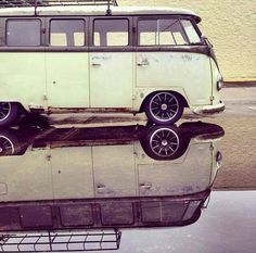 Vw camper with reflection!