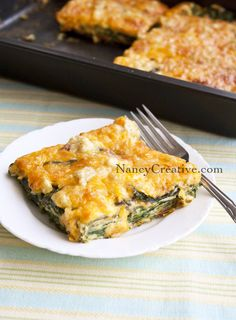 Cheesy Spinach Bake...made with fresh baby spinach!