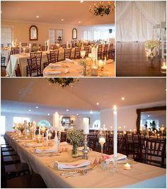 A stunning long wedding table setting at Antrim 1844 Country House Hotel! {Antrim 1844 Country House Hotel}
