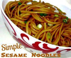 Recipe Of The Week.  Simple Sesame Noodles
