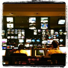 Control room in action during Squawk on the Street @CNBC #behindthescenes
