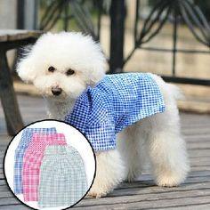 pet clothes dog clothes shirt cotton couple lattice by kelifastner, $15.99