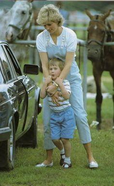 Diana with William 1987