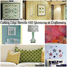 WIN a stencil of YOUR choice.. Cutting Edge Stencils Giveaway (ends June 22nd) at craftionary.
