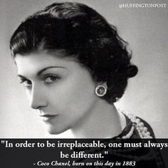 Remembering Coco Chanel, who was born on this day in 1883.