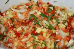 Mother In Law As A Condiment- hot spicy fruit and veggie salad Trinidadian