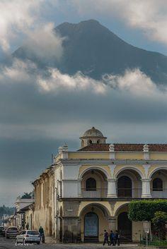 Agua volcano and Antigua, Guatemala