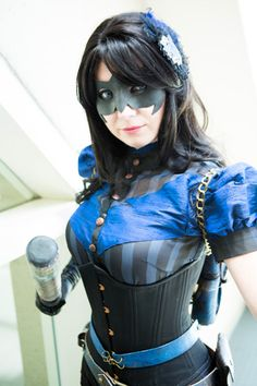 Steampunk Nightwing poses for MTV Geek at San Diego Comic-Con 2012.