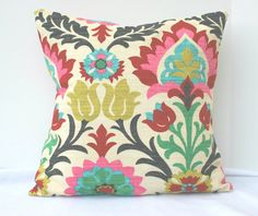 Bohemian Decorative Chic Pillow Cover 18 x 18 by CariJoyDesigns