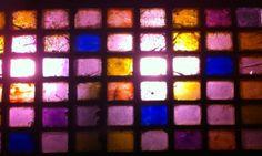Photo of coloured glass on Glasgow Street.