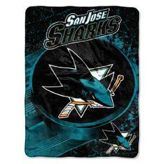 NHL San Jose Sharks Micro Throw Blanket NHL.