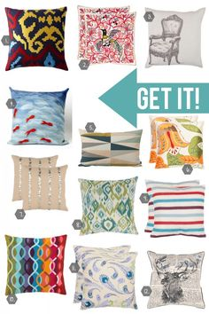 Check out Style Spotter's Michael Wurm, Jr.s favorite throw pillows in this week's Pin it. Get it!