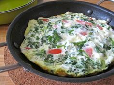 Spinach, Tomato & Feta Cheese Frittata - The Fit Cook - Healthy Recipes - Skinny Recipes