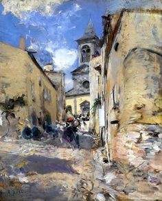 Giovanni-Boldini-The-Church-of-Paese-1885-90