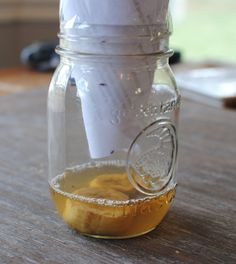 Fruit Fly Trap 1 How to Get Rid of Gnats and Fruit Flies jar, paper cone, scotch tape, banana or other fruit, apple cider vinegar, couple drops of dishwashing liquid. they fly in and don't fly out!