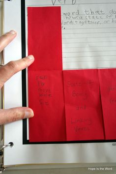 Great notebooking pages for parts of speech.