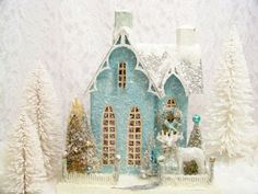 Cody Foster reproduction Christmas mica houses  putz