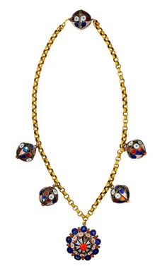 Tara Compton Moorish Enamel Pendant Necklace