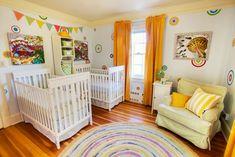 Project Nursery - Carnival-Themed Twin Nursery