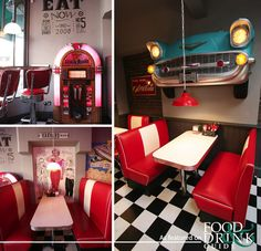 Fancy a trip back in time to the American 1950s? Buddy's Diner in Winchester   #1950sdiner   http://www.foodanddrinkguides.co.uk/winchester/buddys-diner/restaurant/13059 american diner, diner idea, 50s diner