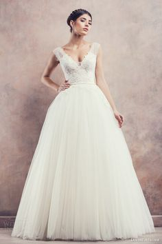 April ball gown with lace bodice from Divine Atelier's dreamy 2014 Poetica bridal collection