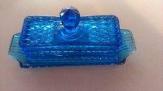 Blue Glass Antique Butter Dish Antique | eBay