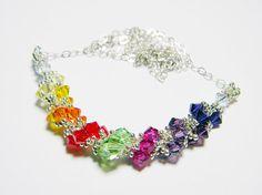 Enlightened Faction #Ingress Players Resonator Swarovski Crystal Necklace by WhimsyBeading