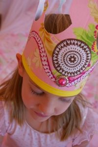 fabric crown, birthday crowns, parti crown, princess party, kid parties