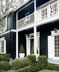 La Dolce Vita: Black (and White) Magic-- love this black and white combo for an exterior.