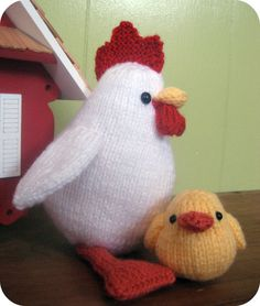 Knit Chicken and Chicks Pattern Set