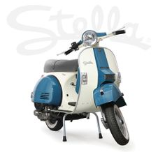 Stella 4-stroke. Now in two-tone! Genuine Scooter Company.