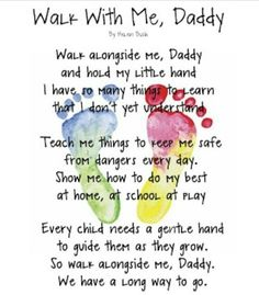 Good poem for fathers day craft...