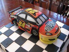 NASCAR cake.... Morgan wants Kasey Kahne colors