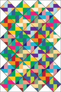 Twin Sister from Bonnie K. Hunter, block pattern found in July/ Aug '10 issue of Quiltmaker
