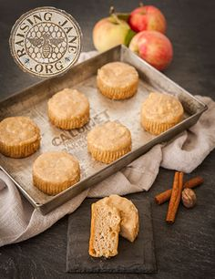 Apple-Buttermilk Muffins with Maple Glaze (Gluten-Free) Prep Time: 25 Minutes, Plus 15 Minutes Resting Time and 45 Minutes Setting Time Cook Time: 25-27 Minutes  Makes: 12 Muffins