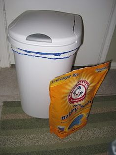 How to keep your cloth diaper pail smelling clean :)