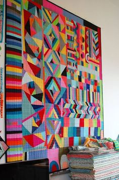 from For Arts Sake  |#quilt- OKAY, I NEED this quilt!! Found a reason why I collected all those solid scraps ;)