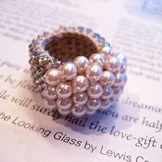 crochet beads ring