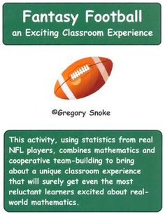 Fantasy Football for the Elementary and Middle School Classroom