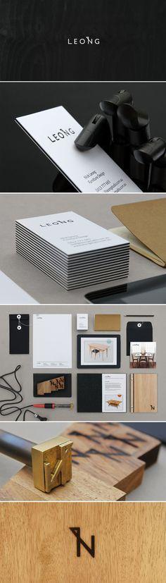 Identity for Furniture Designer Nick Leong by Sarah Bürvenich, via Behance #branding #identity #design #furniture