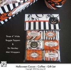 Halloween Treats - Printable Baggie Toppers and Printables for making cute Halloween Gifts and Goodies! Gina Jane Designs - DAISIE Company