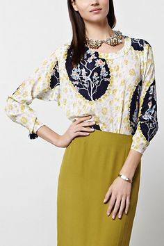 Aunt Esther Cameo Top #anthropologie