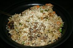 perfect fried rice made in the slow cooker