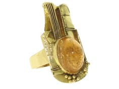 Citrine Ring in 18K