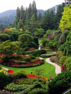 Could we ever see too many photos of Butchart Gardens? I think not. Butchart Garden, Fine Garden, Beauti Place, Beauti Garden, Amaz Thingsplac, Gardens, Garden Idea, Design Idea, Vancouv