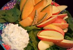 amazon salad, cottage cheese, apple slices, pink ladies, cottages