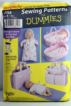 Simplicity 5554 Layette for Baby Dolls in Sizes by TheSpiritOfJoy