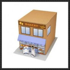 Canon Papercraft - Bakery Shop Free Paper Model Download