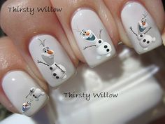 olaf - frozen #nails