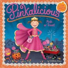 JJ FAVORITE CHARACTERS PINKALICIOUS. Pinkalicious can't believe it: The mayor has canceled Halloween because a storm has knocked out the town's power. No Halloween means no Halloween candy. No Halloween jack-o'-lanterns. No Halloween trick-or-treating. No Halloween holiday parties. And worst of all, no Halloween costumes. Superhero Pinkagirl would find a way to save Halloween, and Pinkalicious decides she will too.